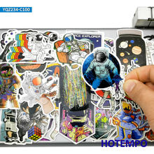 100pcs Retro Alien Astronaut Outer Space Ship Style Mixed Waterproof Decals Stickers Pack for DIY Laptop Suitcase Phone Bike Car
