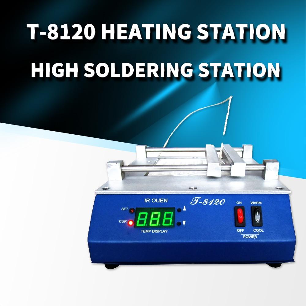 PUHUI T-8120 Preheating Oven T8120 Preheating Plate Infrared BGA Rework Station IRDA Weldering Station Kit Soldering Station