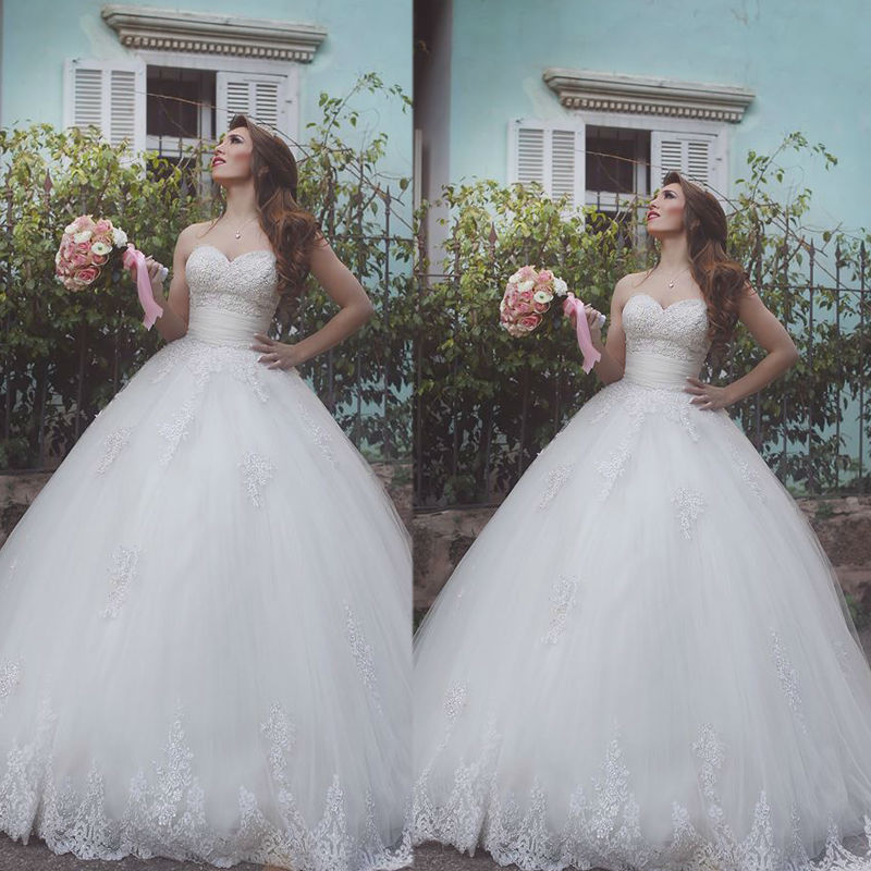 Romantic Sweetheart Ball Gown Tulle Appliques Lace Camo Wedding Dresses 2020 Backless Court Train Vestidos De Novia 6513