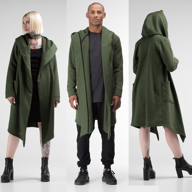 H5b3501b3cff149ef826bf68ae76c3fc61 Unisex Winter Jacket Casual Open Stitch Hooded Long Cloak Cape Coat Cardigan Hoodie Jacket Women Men Pocket Coat Warm Trench hot