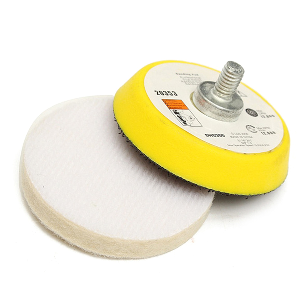 7pcs Glass Scratch Remover 70g Cerium Oxide Polishing Kit 2 Inch Wheel+Wool Felt Polishing Buffing Wheel Grinding Pad