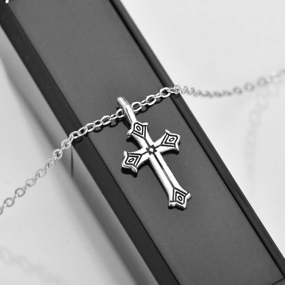 Christian Jesus Cross Necklace For Women Gold Silver Prayer Choker Cross Pendants Men Jewelry Christmas Gift Necklace Lover