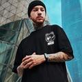 HMZ Funny T Shirt Fashion Brand Summer Black Tee Simple Printed T-shirt Men Hip Hop Tops Cotton Short Sleeve Streetwear Tees