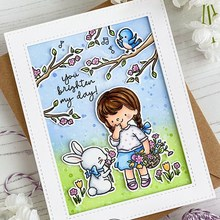 2020 New Metal Cutting Dies and Stamps Scrapbooking For Paper Making Little Girl Rabbit Bird Embossing Frame Card Craft Sets