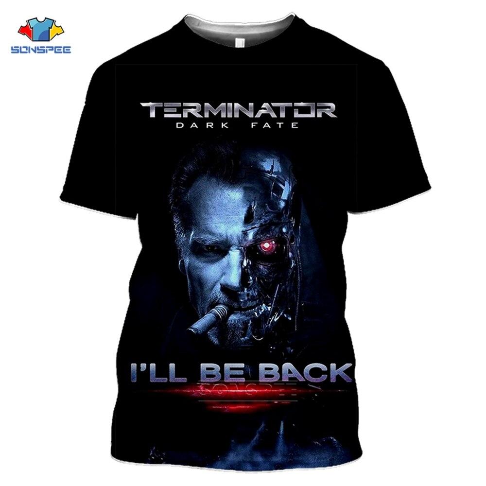 SONSPEE Movie Terminator T Shirt T800 Dark Fate 3d Print Gym Men s T Shirt Joker