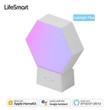 لوحات إضاءة LED ذكية ماركة لايف مارت كولولايت بلس 16 مليون لون RGB لتقوم بها بنفسك مصباح الكم يعمل مع أبل HomeKit جوجل أليكسا