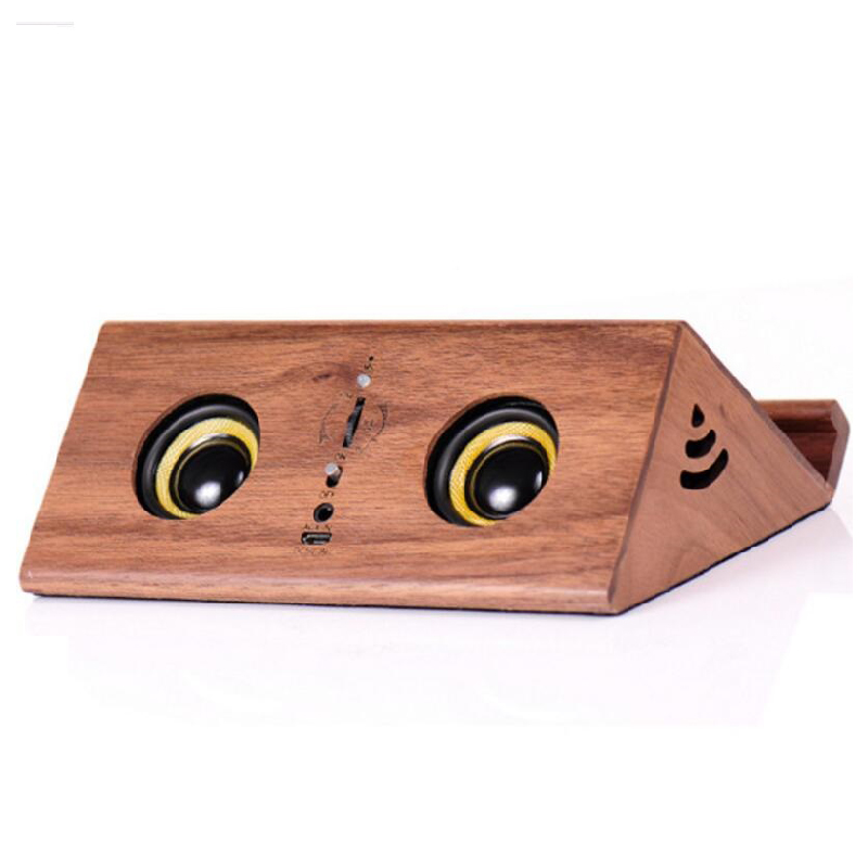 Portable  BT Induction Promotion Bamboo Wooden Material Speaker With AUX Mode For Mobile Phone