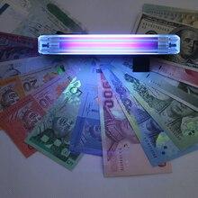 Проверка кредитной карты/проверки/билета/паспорта/удостоверения личности/проверки бумаги с фонарь УФ-светильник детектор денег 2 в 1