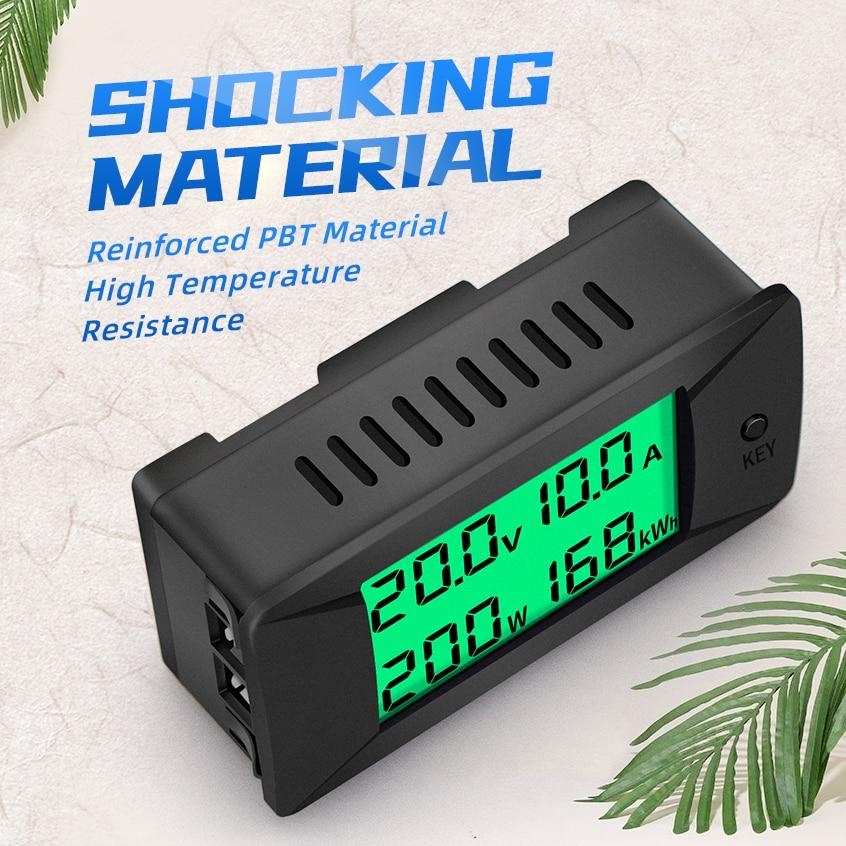 PZEM-025 Nieuwste 0-300V 100A Shunt Bulit Dc Digitale Batterij Tester Bidirectionele Ampèremeter Voltmeter Power Energy watt Meter 4
