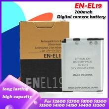 EN EL19 – batterie de caméra Nikon Coolpix S32 S33 S100 S2500 S2750 S3100 S3200 S3300 S3400 S3500 S4100 S4150 S4200, 700mah
