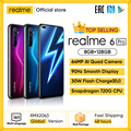 Realme 6 Pro Handy 6,6 inch 90Hz Display 64MP Camra 8GB 128GB Snapdragon 720G Smartphone 4300mAh Batterie 30W Blitz Charge