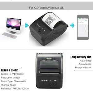 Image 5 - Zjiang 58 Mm Bluetooth Thermische Printer Draadloze Pos Printer Voor Android Ios Mobiele Telefoon Windows Ondersteuning Kassalade
