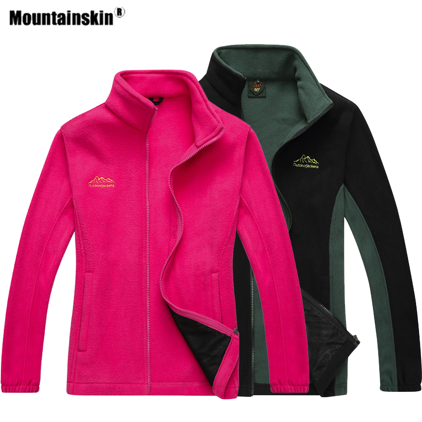 Mountainskin Men Women's Hiking Fleece Jacket Outdoor Sport Man Breathable Windbreaker Climbing Camping Trekking Male Coat VA588