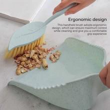 Dustpan-Kit Brush-Set Home-Cabinet Handheld Small Desk for Car Blue Compact