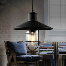 Vintage Led Pendant Light Iron Loft Nordic Retro Mesh Lampshade Bar Restaurant Lamp Industrial Pendant Lamp Cafe  Light Fixtures pendant light for restaurant 5 8 heads beanstalk dna molecules vintage pendant lamp nordic iron pendant lighting glass shades