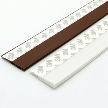 Adhesive Under Door Sweep Weather Stripping Soundproof Rubber Bottom Seal Strip 4