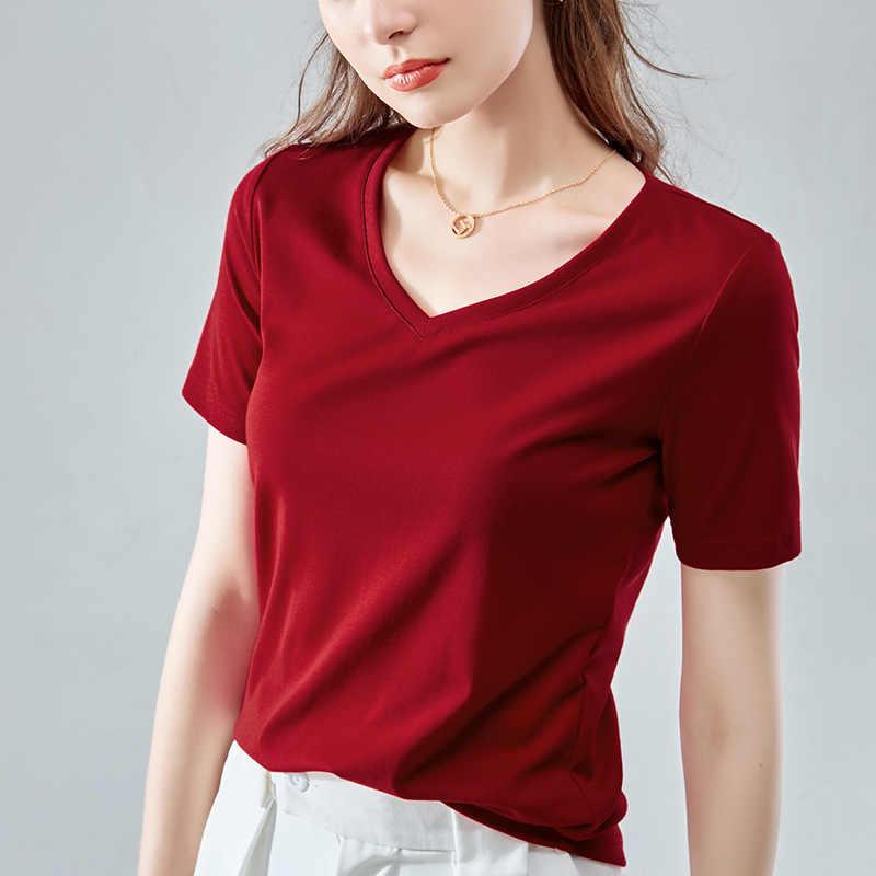 Camisa de manga curta lisa das mulheres 2020 verão boa qualidade 15 cores simples algodão solto básico camisetas femininas casuais S-3XL