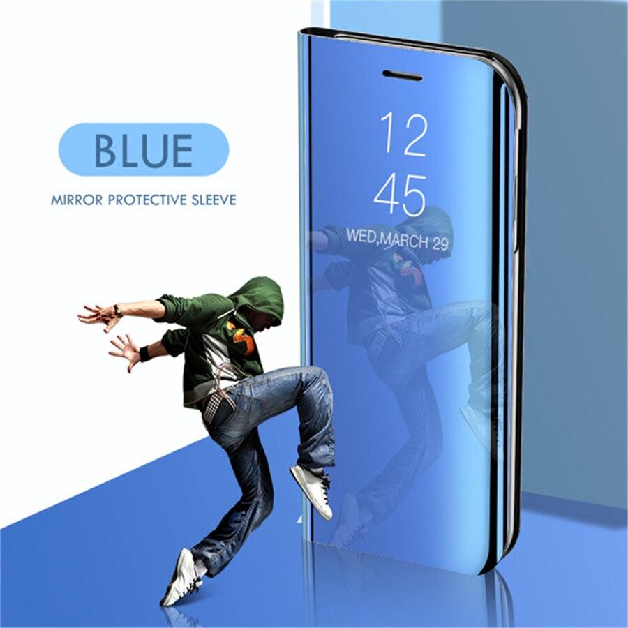 Smart mi rror чехол для телефона для Xiao mi Red mi Note 8 7 K20 5 6 iPad Pro 4 4X 8A 6 6A 7A Plus mi 9 SE 9T 8 Lite A1 A2 A3 5X 6X mi x 2 крышка - Цвет: Blue