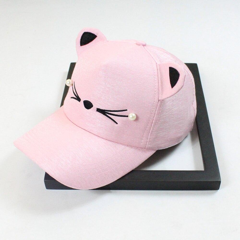 Peaked Cap Female Hat Spring Fashion Tide Pearl Wild Cute Student Cat Ear Visor Baseball Cap Children's Baseball Cap