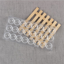 24 Holes Semi Sphere Chocolate Mould PC Polycarbonate Bar Mold Half Ball Plastic Candy Waffle Bakeware Rectangle