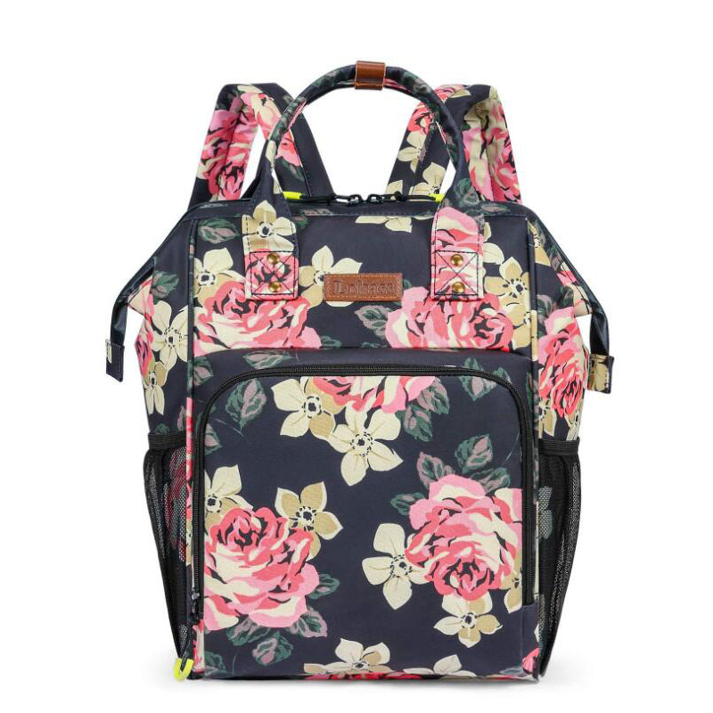 High capacity cooler bag flowers backpack insulation ice pack drink cooler box grey insulation bags waterproof Aluminium foil image