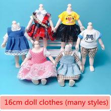 Novo 16cm bjd boneca roupas high-end vestir-se pode vestir-se moda boneca roupas saia terno melhores presentes para crianças diy meninas brinquedos