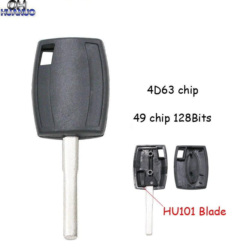 Ретранслятор Автомобильный ключ для Ford Focuswith с 49 чипом 128 бит/4D63 40 бит Uncut HU101 лезвие Брелок оболочка