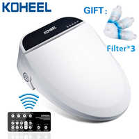 KOHEEL Wholesale Electric Intelligent Bidet Cover Heat Sits Led Light Integrated Smart Toilet Seat