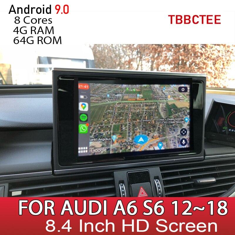 Android 10 8 ядер 4 + 64G для Audi A6 S6 C7 4G 2012 ~ 2016 2017 2018 RMC MMI Автомобильный мультимедийный плеер Радио DVD стерео GPS навигация|Мультимедиаплеер для авто| | АлиЭкспресс