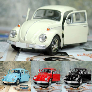New Lovely Vintage Beetle Car Children Toy Diecast Pull Back Car Model Children Gift BoysToy Decor Cute Figurines
