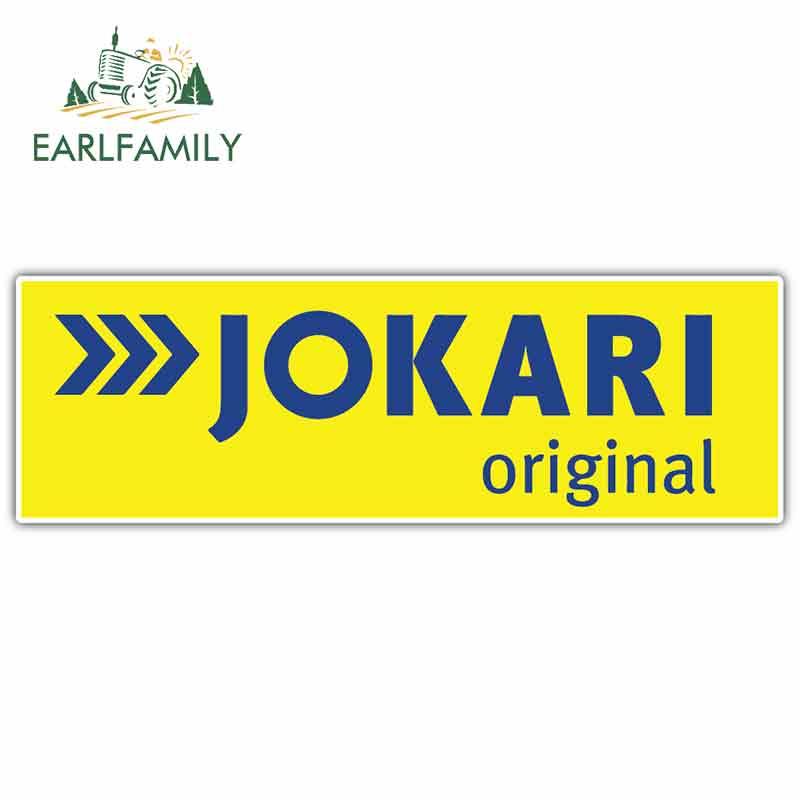 EARLFAMILY 13cm X 4.1cm For Jokari Tools German Auto Car Stickers RV JDM Bumepr Laptop Waterproof Decals Vinyl Car Assessoires
