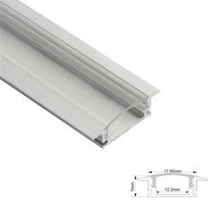 Image 3 - 1 סט 50cm LED בר אורות אלומיניום פרופיל שקוף/חלבי כיסוי U/V/סגנון בצורת עבור LED רצועת אור חלקי