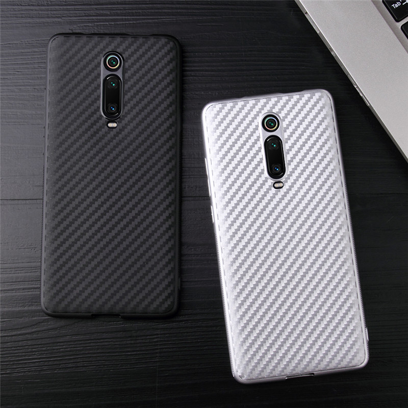 For Xiaomi Redmi K20 Pro Case Shockproof Carbon Fiber Soft TPU Case for XIaomi Mi 9T / Mi9T Pro Bumper Matte capa(China)