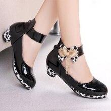 เด็กใหม่เจ้าหญิงส้นสูงสำหรับรองเท้าหนังแฟชั่นสีม่วงชุดผีเสื้อรองเท้างานแต่งงานรองเท้าเต้นรำ