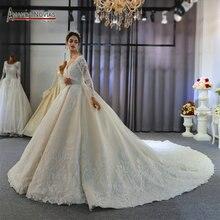 Robe mariage gelinlik gelinlik uzun kollu zarif gelinlik