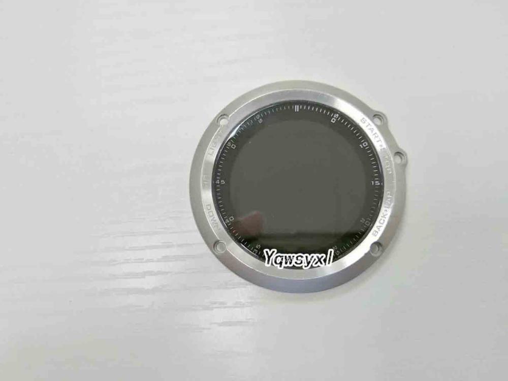 Yqwsyxl Original légères rayures LCD écran daffichage + noir et argent cadre couverture pour Garmin Fenix 3 Fenix3 HR GPS montre