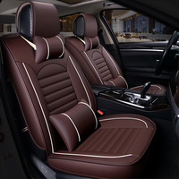 Kalaisike leather Universal Car Seat covers for Fiat all models 500 palio albea Bravo Freemont car styling auto accessories