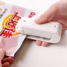 1pc portátil mini casa máquina de solda quente aferidor do impulso cerâmica aferidor embalagem capper saco plástico aferidor clipes