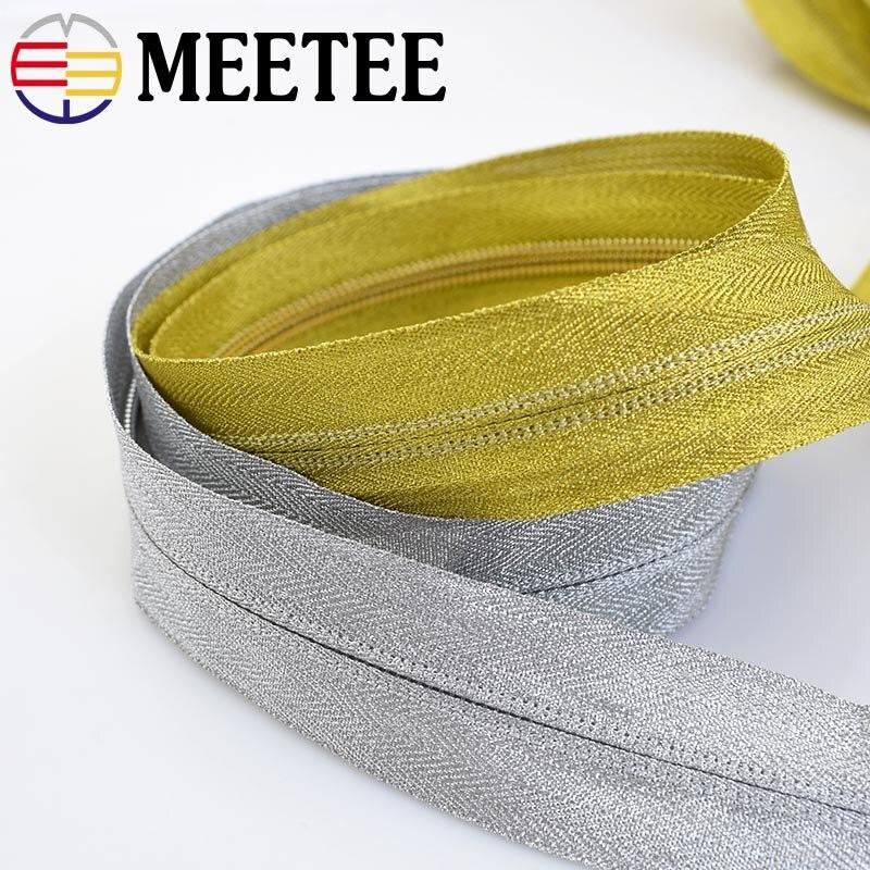 5~20pcs Brass Metal 3# Separator Zipper On Black Nylon Coil Zipper 30-60CM