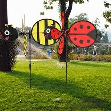 Шмель пчела/Божья коровка ветряная мельница ветер Спиннер домашний Двор Сад фестиваль Декор