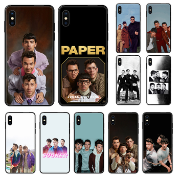 Jonas Brothers Rock Phone case For iphone 4 4s 5 5S SE 5C 6 6S 7 8 plus X XS XR 11 PRO MAX 2020 black art prime silicone back 3D image