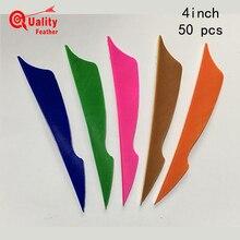 JINYUQI Sting Turkey Feather 50pcs 4 Arrow Archery Cut Fletching Hunting Shooting Diy Accessories