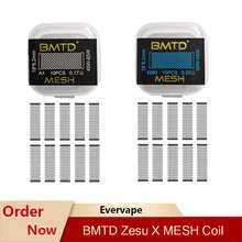 Heating-Coil Electronic Cigarette Zeus-X-Mesh BMTD for RTA A1 10pcs/Pack