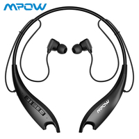 Mpow Jaws Gen5 Bluetooth 5.0 Headphones Neckband Headset Magnetic Earbuds with Noise Suppression Mic HiFi Stereo Sport Headphone