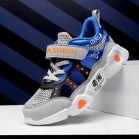 Primavera novos sapatos menino tênis crianças sapatos de moda respirável esportes casuais crianças sapatos para a menina|Tênis de corrida| |  -