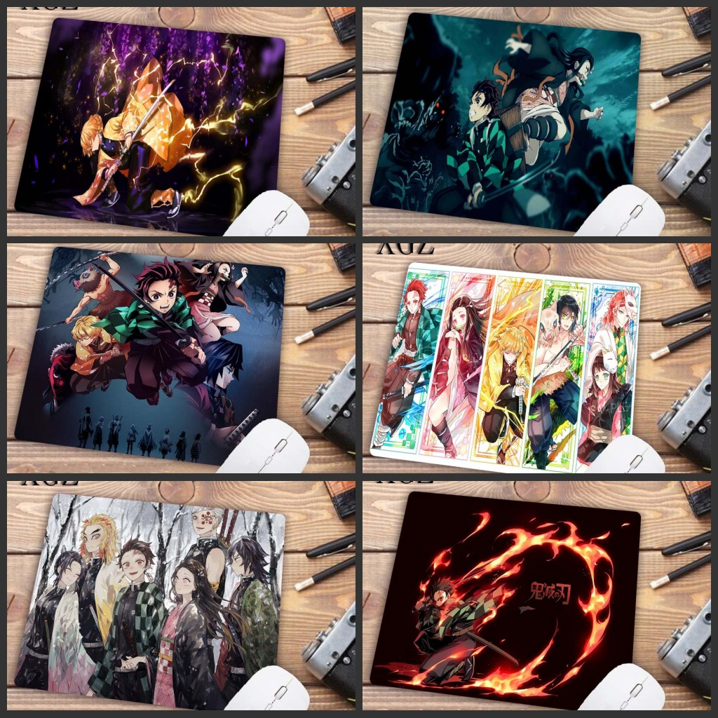 XGZ Big Promotion Anime Demon Slayer Kimetsu No Yaiba Design Pattern Game Mousepad Free Shipping 22X18CM Mouse Pad Keyboards Mat