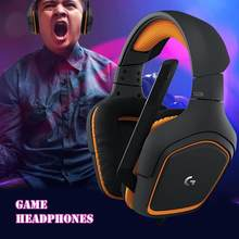 Durable Wired Headset Wear-resistant Logitech3.5mm Wired Headphone Line Control Stereo Mic Headset for Gamer PC for Home(China)