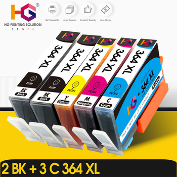 5pcs printer ink cartridge for  HP364XL HP 364 XL for HP Photosmart 5510 5515 6510 B010a B109a B209a Deskjet 3070A HP364 no pbk 4 pcs printer ink cartridge for hp364xl hp 364 xl for hp photosmart 5510 5515 6510 b010a b109a b209a deskjet 3070a hp364