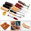 14 шт./компл. DIY Кожа Craft ручные инструменты нитки для шитья кожи инструменты Инструменты для шитья для начинающих набор шило воском нити напе...