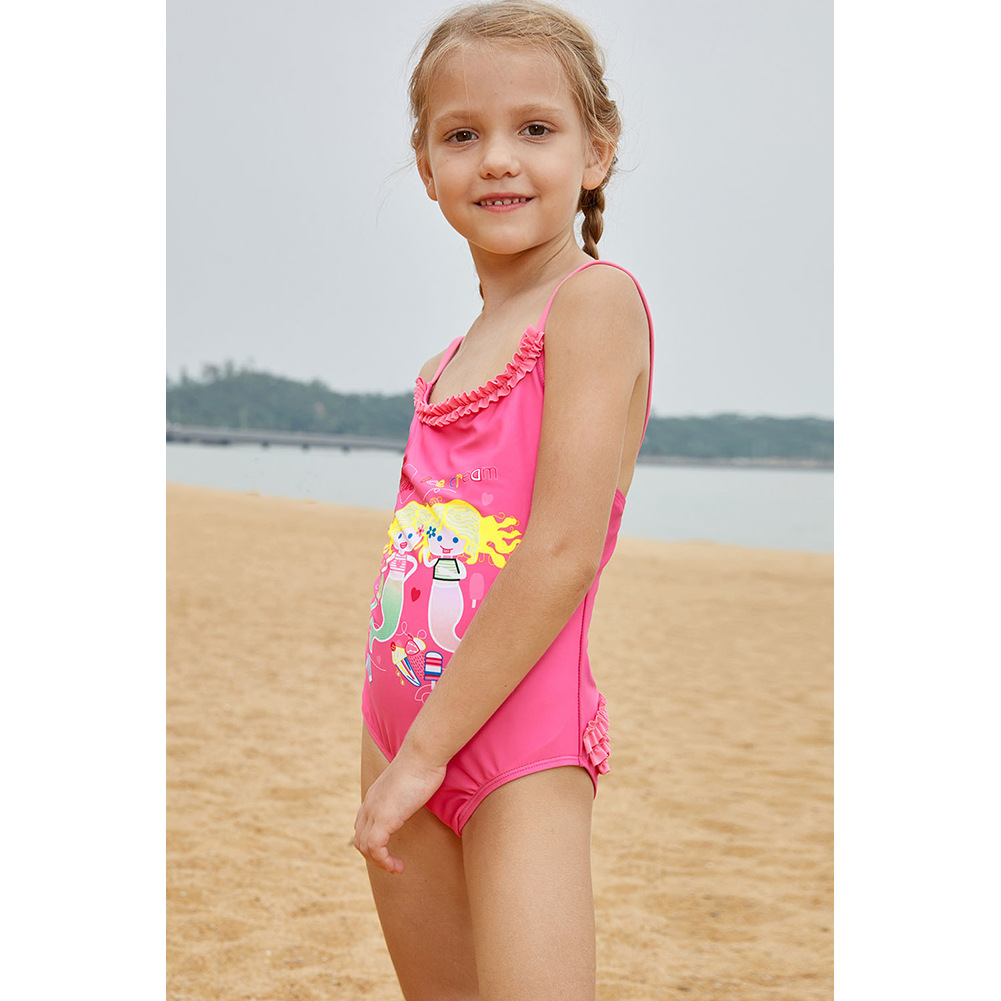 CHILDREN'S Bikini Camisole Printed Small Mermaid Princess Bathing Suit Europe And America New Style One-piece CHILDREN'S Swimsui